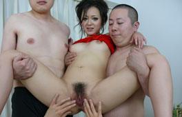 Japanese Mom Squirting Gangbang